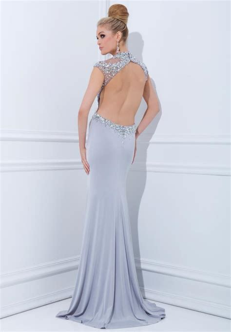 backless evening gowns dressed  girl