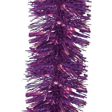 purple luxury tinsel 6m x 12cm peeks