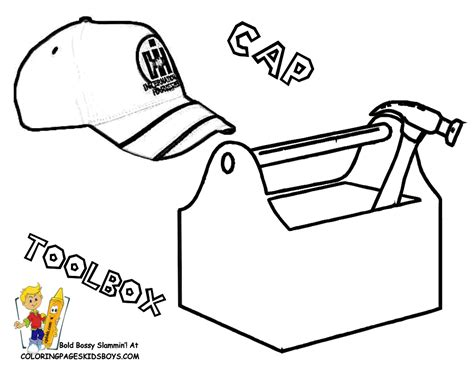 toolbox coloring page boys free tractor coloring tractors tractor parts
