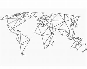 Carte Du Monde Design : acho interessante fazer e ir colorindo a medida que for conhecendo os locais do mundo tattoo ~ Teatrodelosmanantiales.com Idées de Décoration