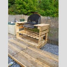 Upcycled Pallet Outdoor Grill  Home Design, Garden