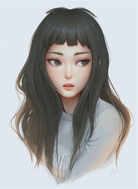Cute Anime Girl Digital Art