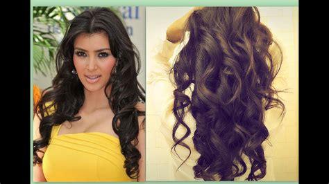 kim kardashian hair tutorial   curl long hair big
