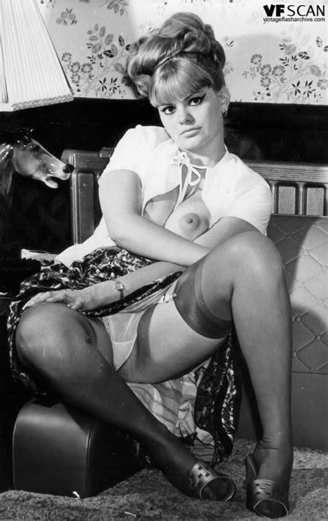 hot vintage pornstars flashing sexy upskirts wearing sheer silk stockings