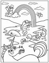 Coloring Rainbow Pages Printable sketch template