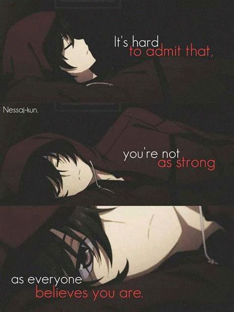 Sad Anime Wallpapers With Quotes - otosaka yuu it is me pinte