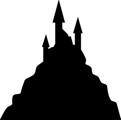 Frankenstein Pumpkin Stencil Free by Spooky Castle Silhouette Clip Art At Clker Com Vector
