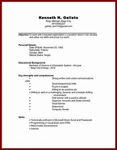 Sample Resume College Student No Experience