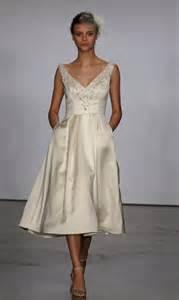 tea length bridesmaid dresses 38 retro tea length wedding dresses weddingomania