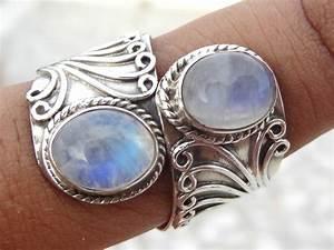 Rainbow Moonstone ring moonstone silver ringsolid silver