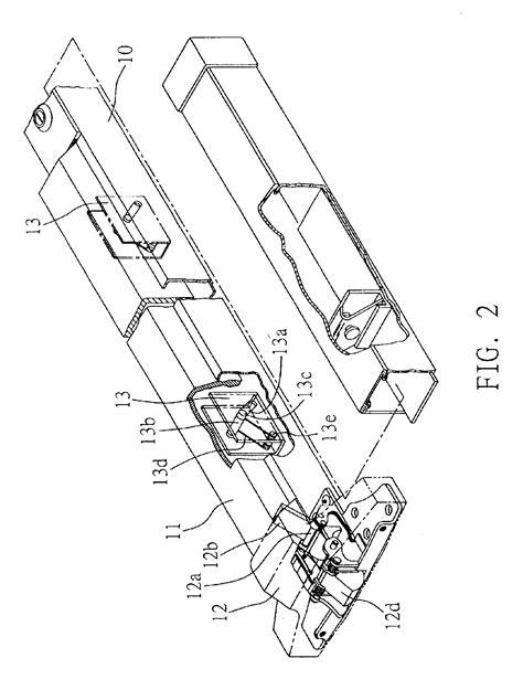 push bar door lock mechanism patent us6854773 door lock mechanism patents
