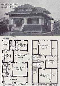 Early 1900s Free Old House Blueprint Plan - How to Build Plans