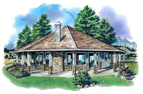 adorable octagon house plan hunters