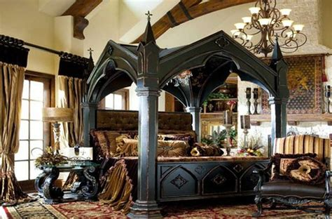 Stylish-black-gothic-bedroom-design