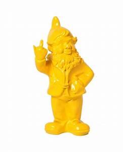 Statue De Jardin En Résine : statue en r sine nain de jardin doigt d 39 honneur jaune 33 cm ~ Dailycaller-alerts.com Idées de Décoration