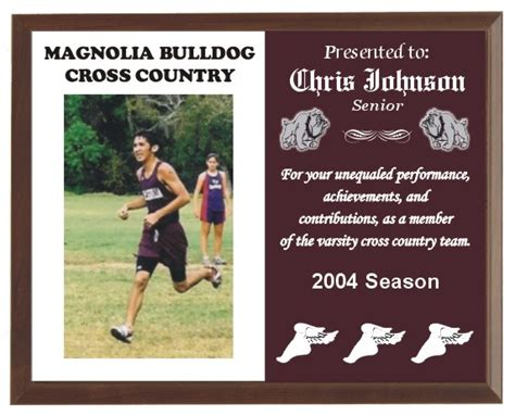 Cross Country Running Plaques
