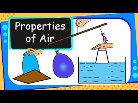 science air properties  experiments english youtube