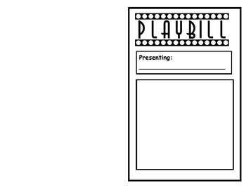 playbill template readers theater playbill template by tpt