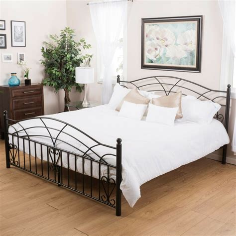 Size Bed Frame by Bedroom Furniture Black Finish Iron Metal Size Bed