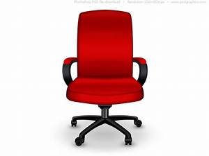 Red office chair PSD icon | PSDGraphics