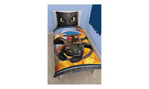 dragons parure de lit r 233 versible toothless housse de couette taie d oreiller 135 x 200
