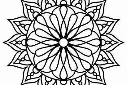 Mandala Coloring Easy Pdf Printable Simple Adults
