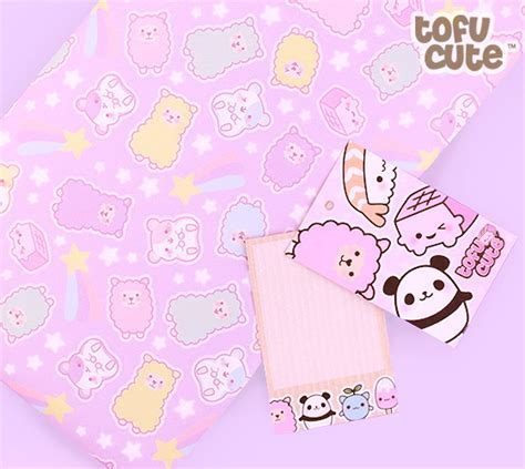 Buy Tofu Cute Gift Wrap Set   Kawaii Pastel Alpaca