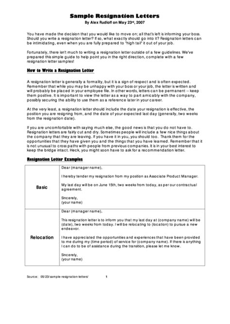 sample resignation letters relocation heartfelt