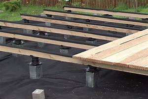 Lambourde Pour Terrasse Bois : poser une terrasse sur sol naturel vid o id terrasse bois ~ Premium-room.com Idées de Décoration