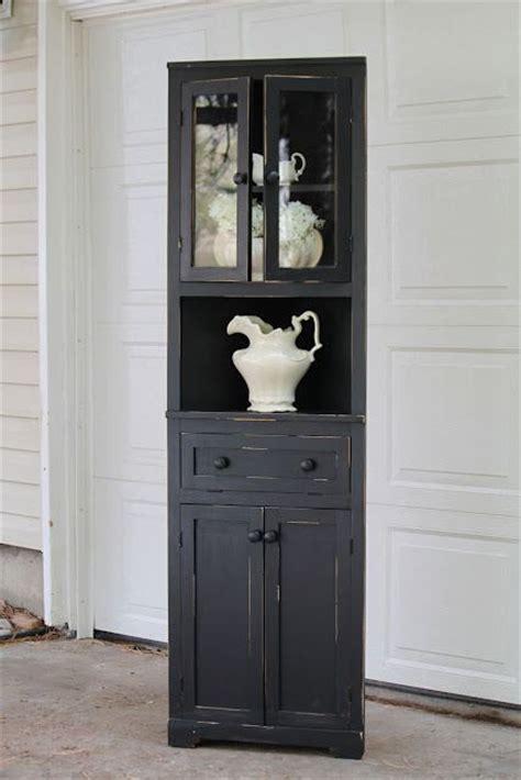 Black Corner Cupboard by 17 Best Ideas About Corner Hutch On White
