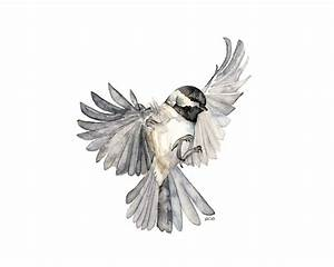 Bird in Flight Painting Print from Original Watercolor