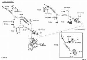 Toyota Corolla Accelerator Pedal Sensor  Body  Interior  Position