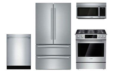 Bosch Stainless Steel Appliance Package with Gas Range