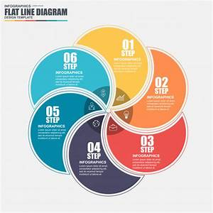Thin Line Flat Cycle Diagram Infographic Elements Vector