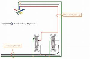Ceiling lighting wiring a fan with light diagram