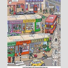Places And Shops Around Town Or City Vocabulary Learning English