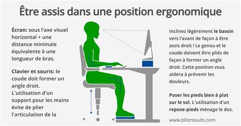 bureau ergonomique s 39 asseoir correctement pour lutter