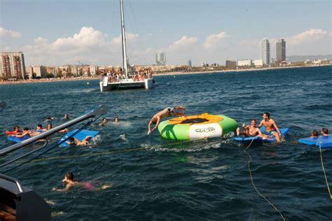Catamaran Barcelona Barcelona by Catamaran Sensation Party Boat Barcelona Experitour