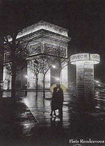 Paris Rendezvous France Romantic Kiss Poster