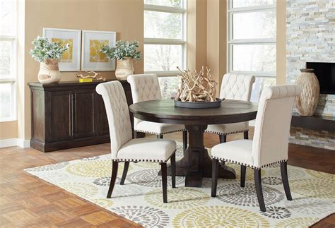 weber  dining room set  cream chairs casual