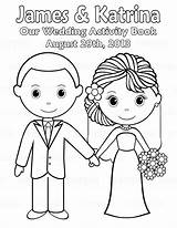 Coloring Printable Personalized Activity Colouring Sheets Bride Groom Pdf Weddings Template Adults Couple Reception Sugarpiestudio sketch template