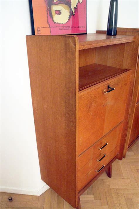 bureau vintage 馥s 50 secrétaire bureau vintage scandinave 3 tiroirs 50 39 s luckyfind