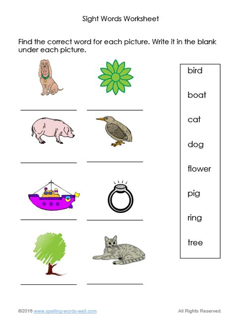 sight words worksheets for spelling and reading practice 243   sight words worksheets1
