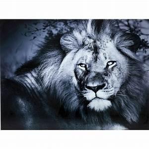 Tableau En Verre : tableau en verre lion king 120x160cm kare design ~ Melissatoandfro.com Idées de Décoration