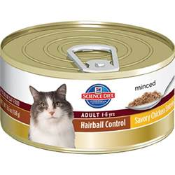 cat food hairball hairball minced chicken canned cat food 5 5 oz