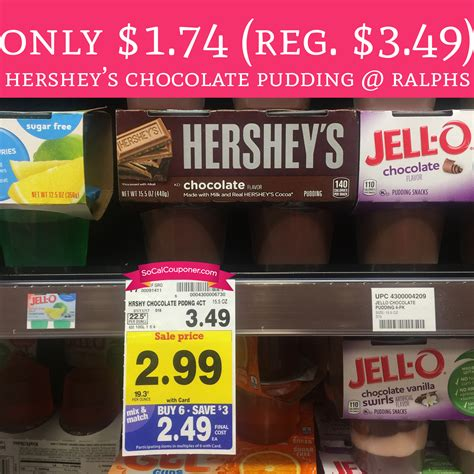 Continue to cook on high for another 1 1/2 minutes or until the chocolate pie filling is thick like pudding. PRINT! Only $1.74 (Regular $3.49) Hershey's Chocolate Pudding @ Ralphs! - Deal Hunting Babe