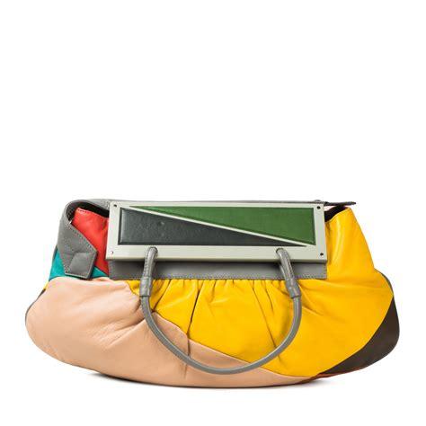 fendi multicolor leather convertible   clutch bag labelcentric