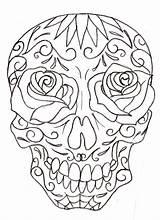 Skull Coloring Sugar Pages Girly Drawings Tattoo Drawing Skulls Printable Tattoos Metacharis Designs Deviantart Candy Adult Dead Muertos Dia Los sketch template