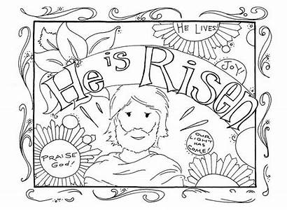Easter Coloring Religious Christian Worksheets 101coloring Via