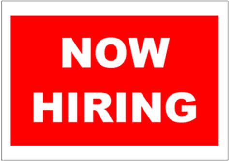 now hiring template signs poster excel templates free